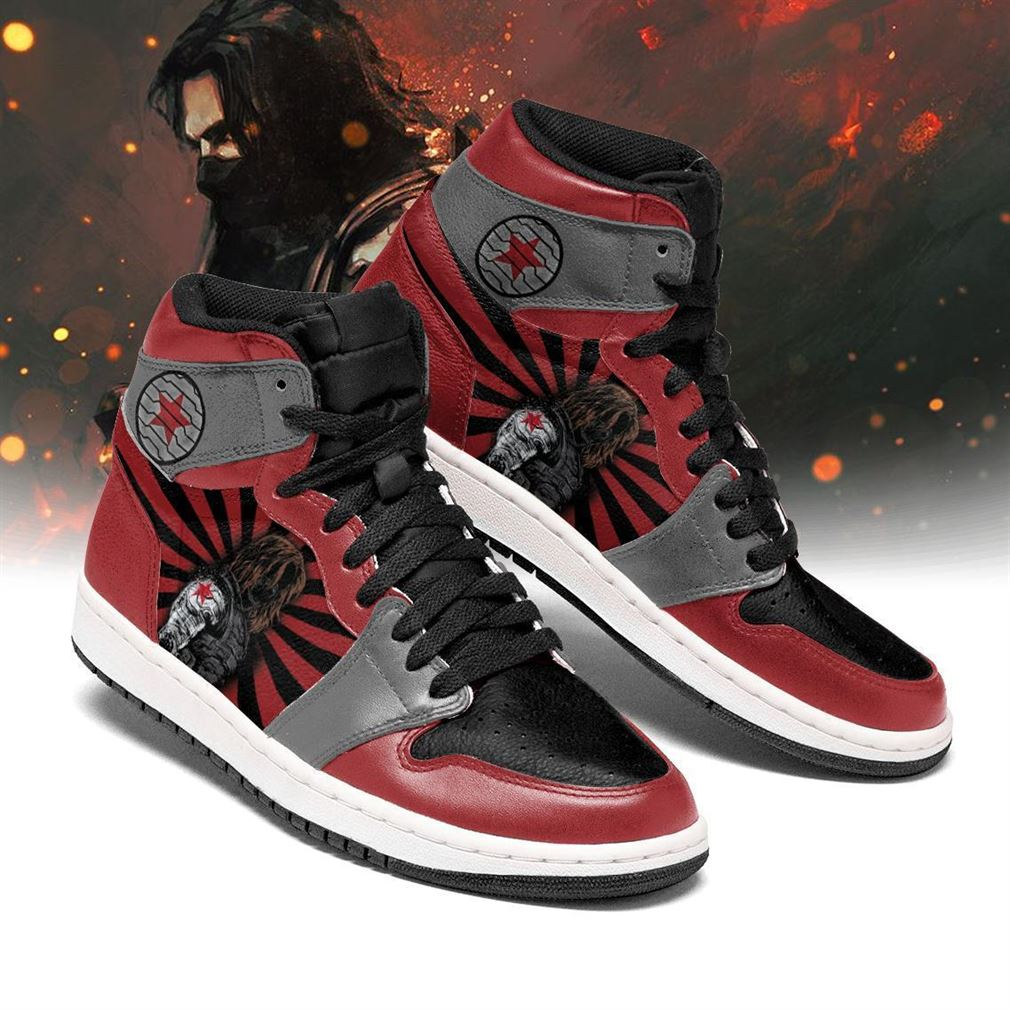 Winter Soldier Marvel Air Jordan Shoes Sport Sneaker Boots Shoes