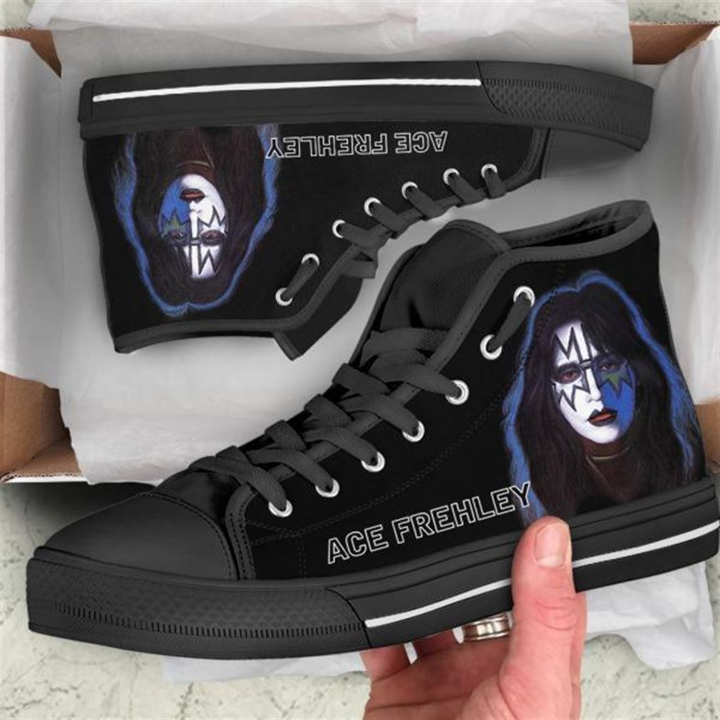 Ace Frehley High Top Vans Shoes