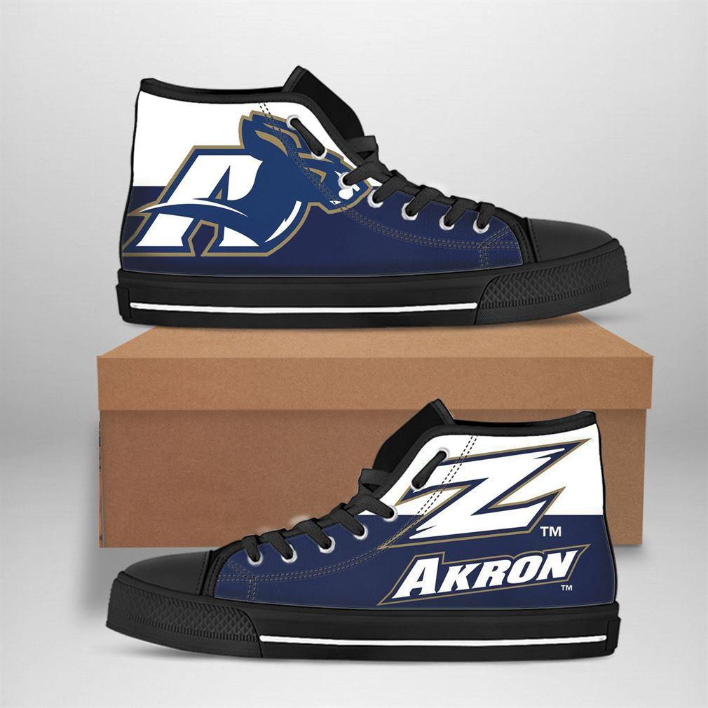 Akron Zips Nfl Football High Top Vans Shoes