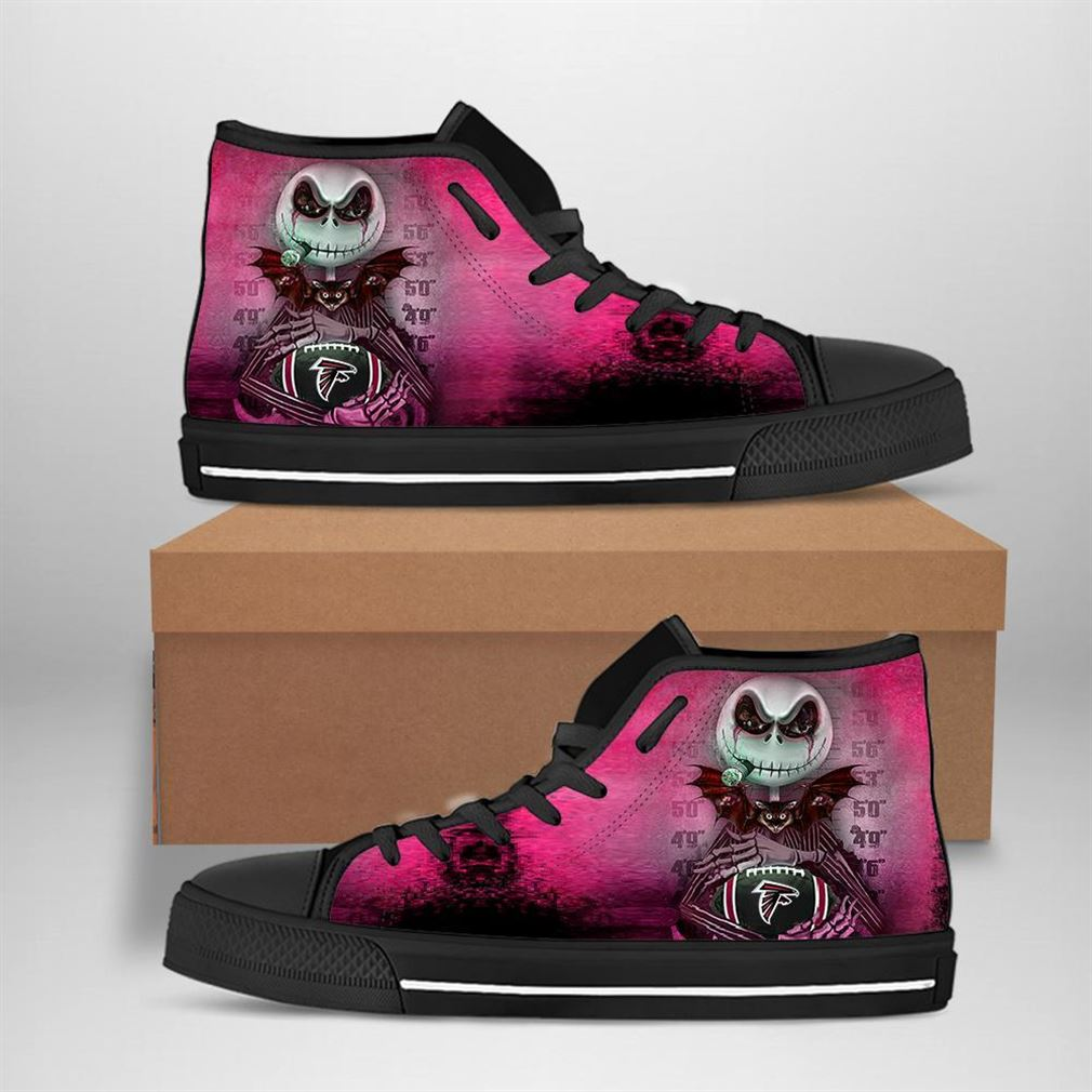 Atlanta Falcons Nfl Football Jack Skellington High Top Vans Shoes