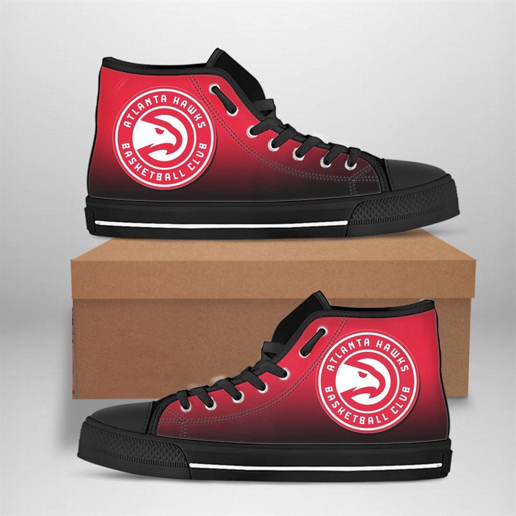 Atlanta Hawks Nba Basketball High Top Vans Shoes - Luxwoo.com
