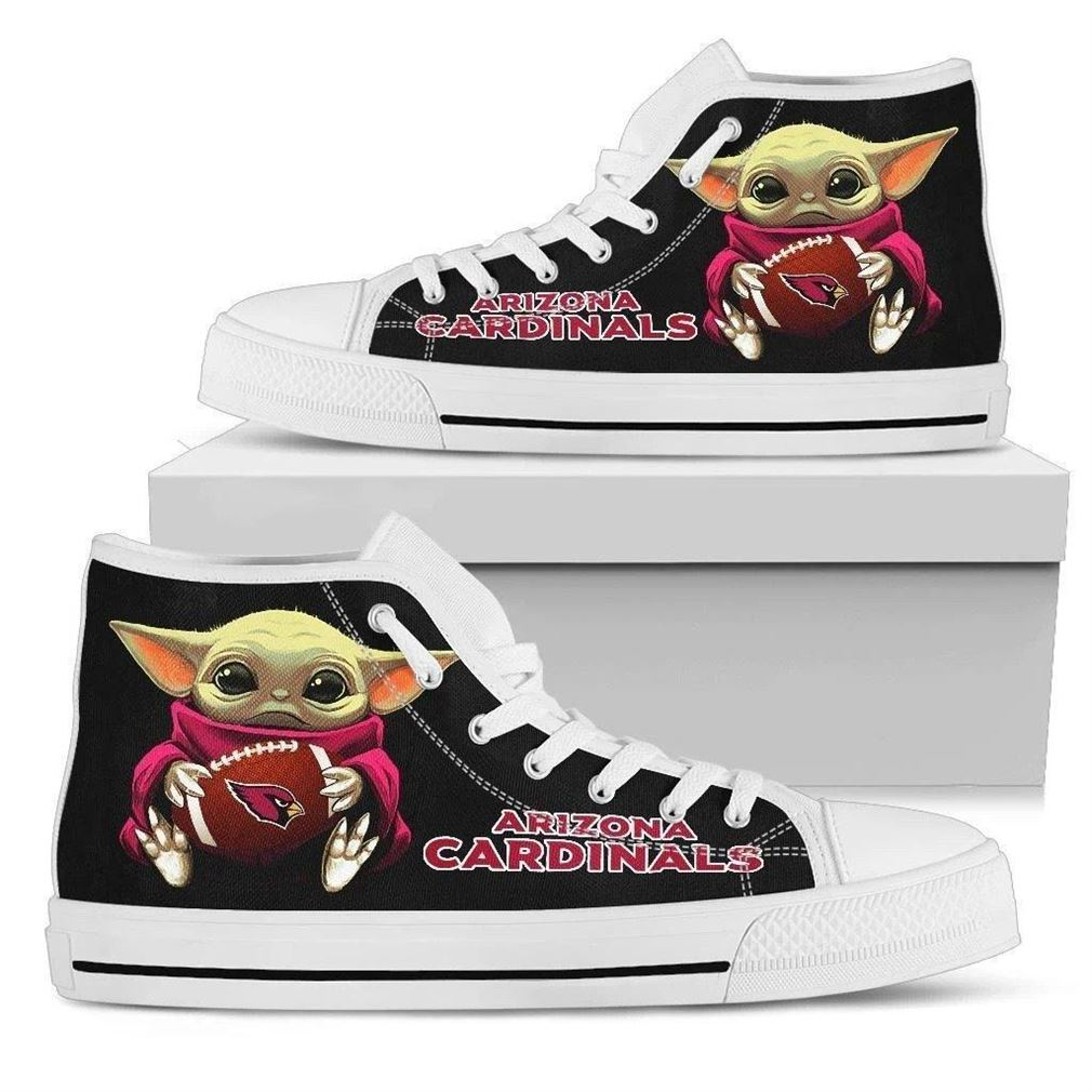 Baby Yoda Hug Cardinals High Top Vans Shoes