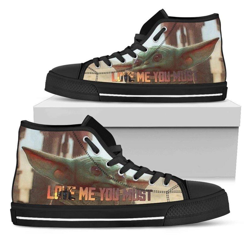 Baby Yoda Mandalorian High Top Vans Shoes