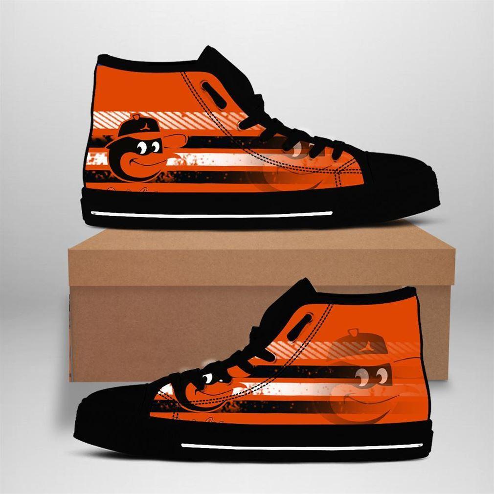 Baltimore Orioles Mlb Baseball High Top Vans Shoes