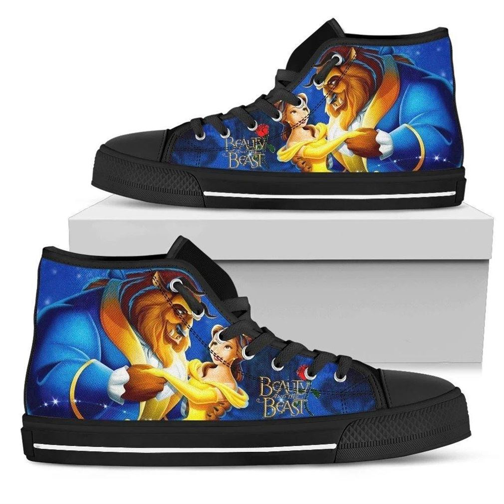 Beauty And The Beast High Top Vans Shoes