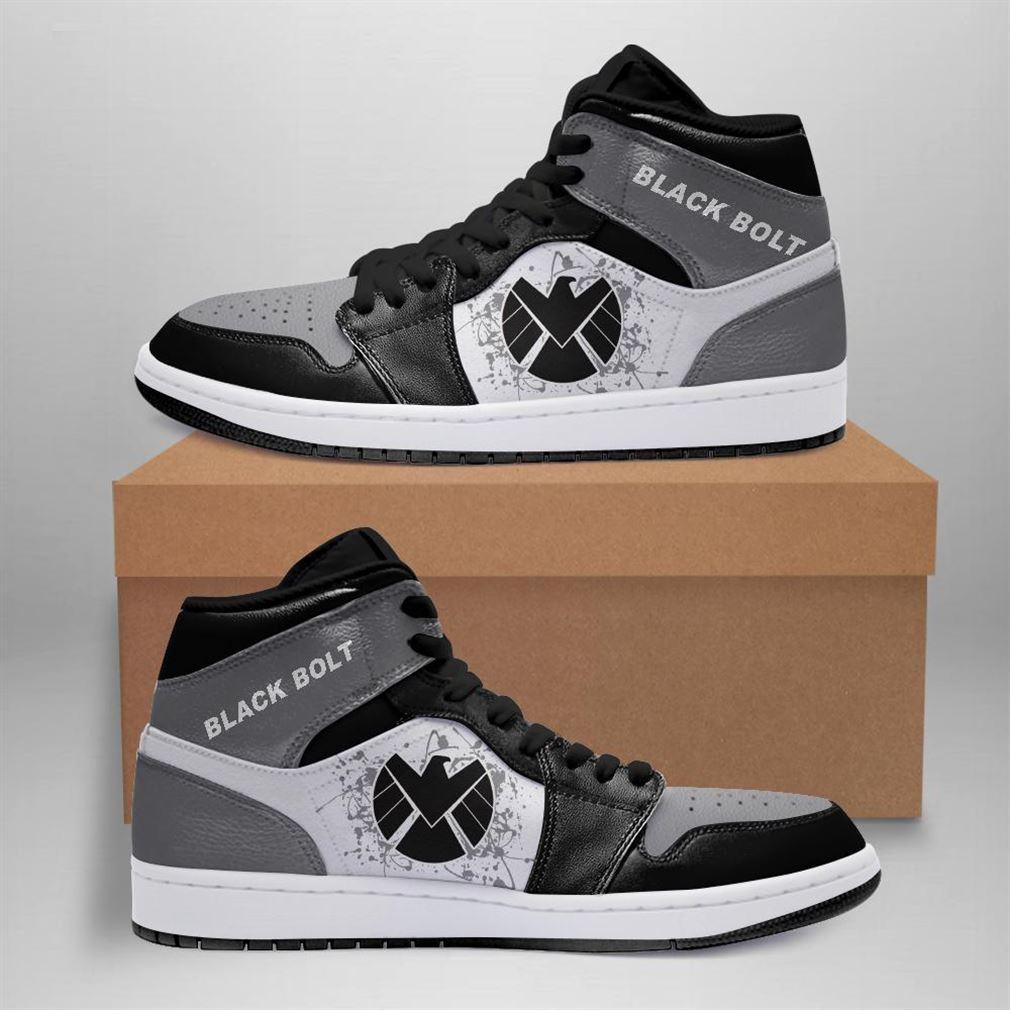 Black Bolt Marvel Air Jordan Sneaker Boots Shoes