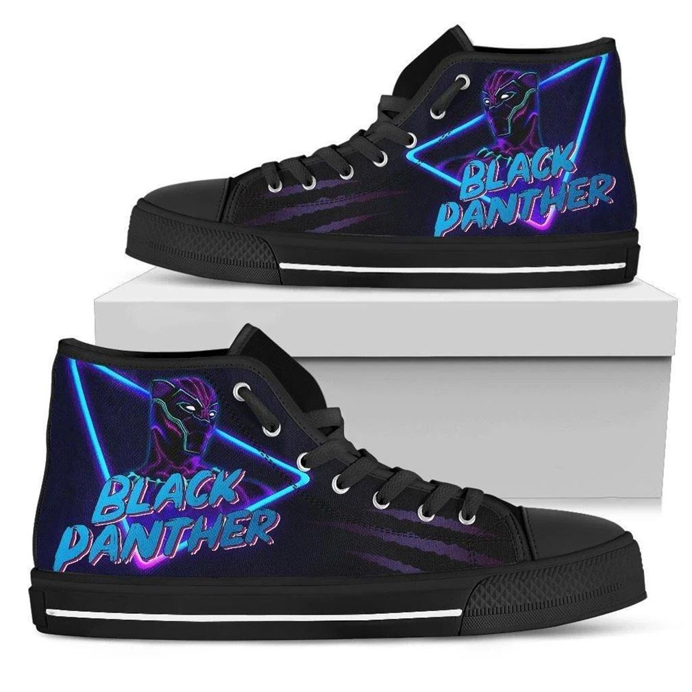 Black Panther High Top Vans Shoes