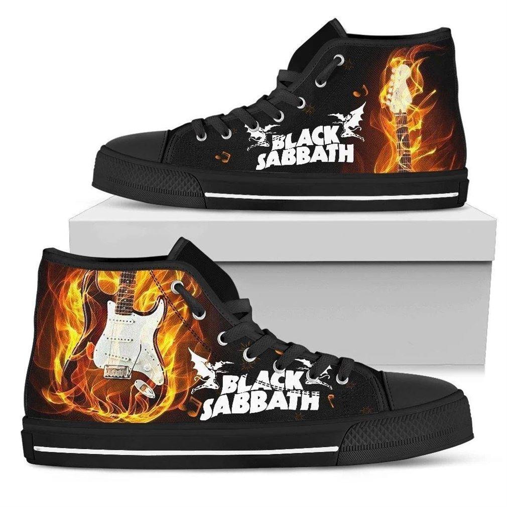 Black Sabbath High Top Vans Shoes