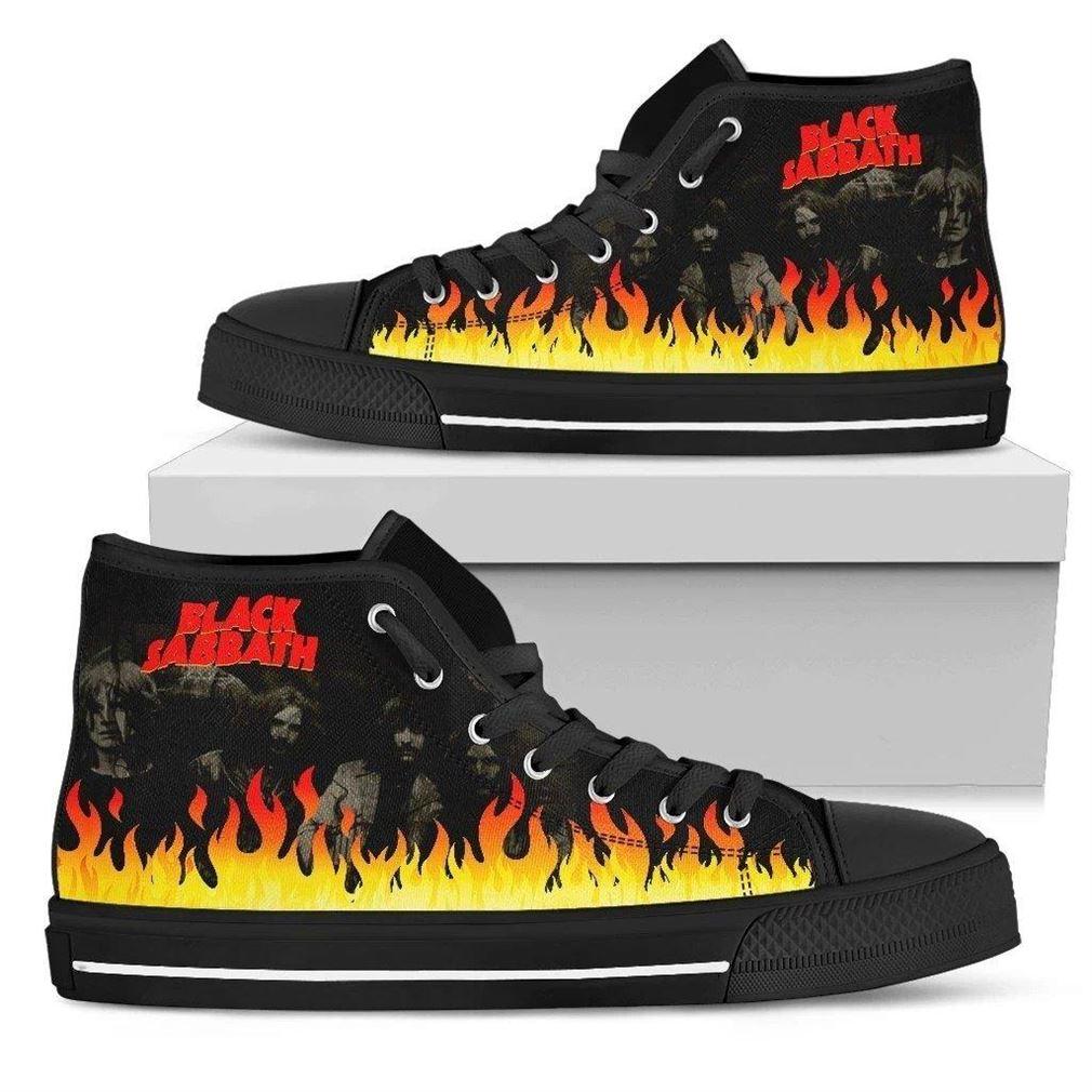 Black Sabbath Rock Band High Top Vans Shoes