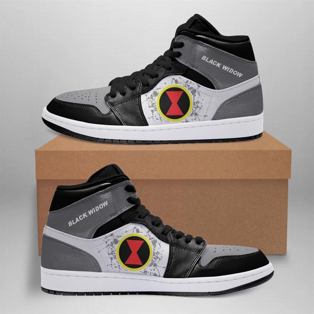 Black Widow Marvel Air Jordan Sneaker Boots Shoes
