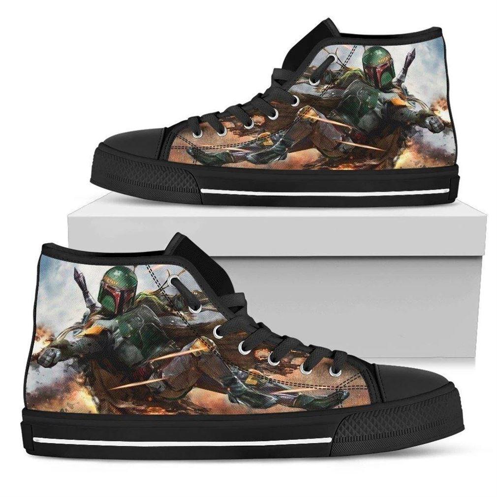Boba Fett High Top Vans Shoes