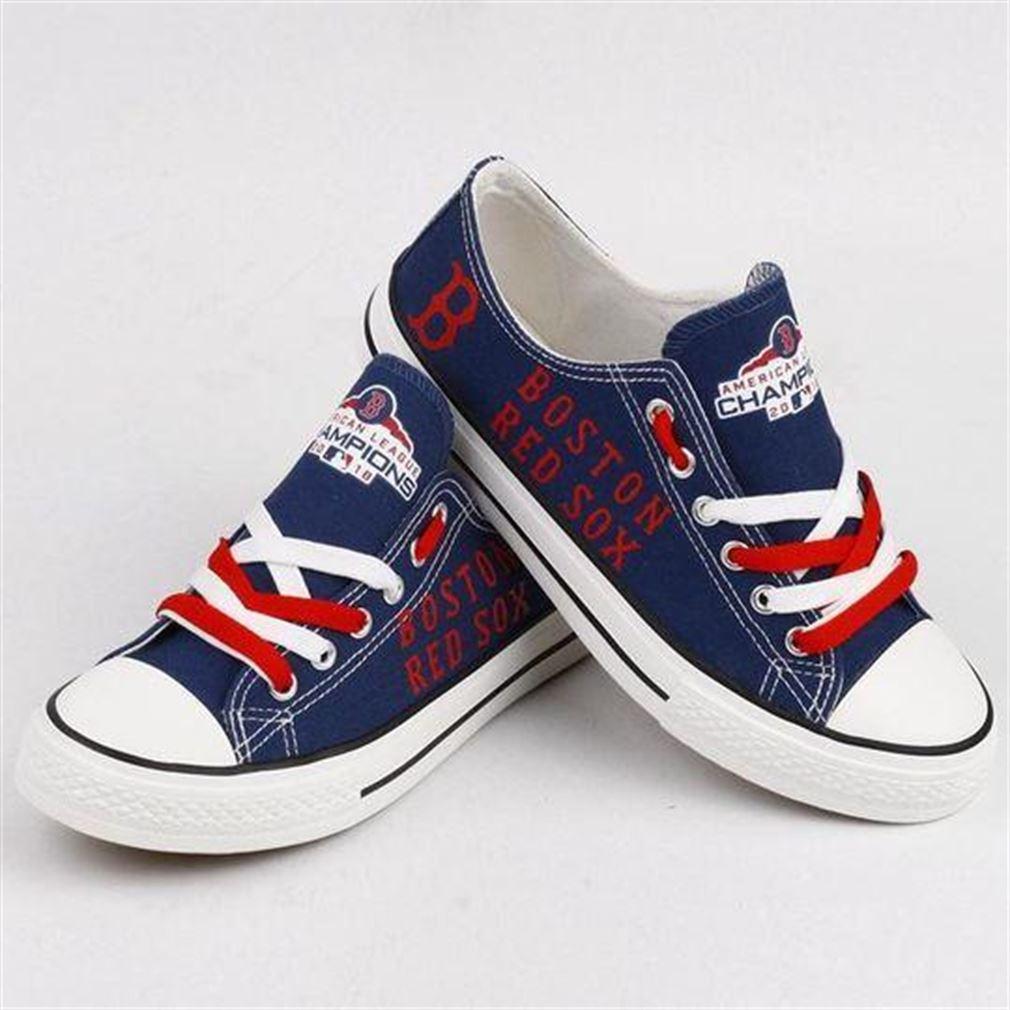 Boston Red Sox Mlb Baseball Low Top Vans Shoes