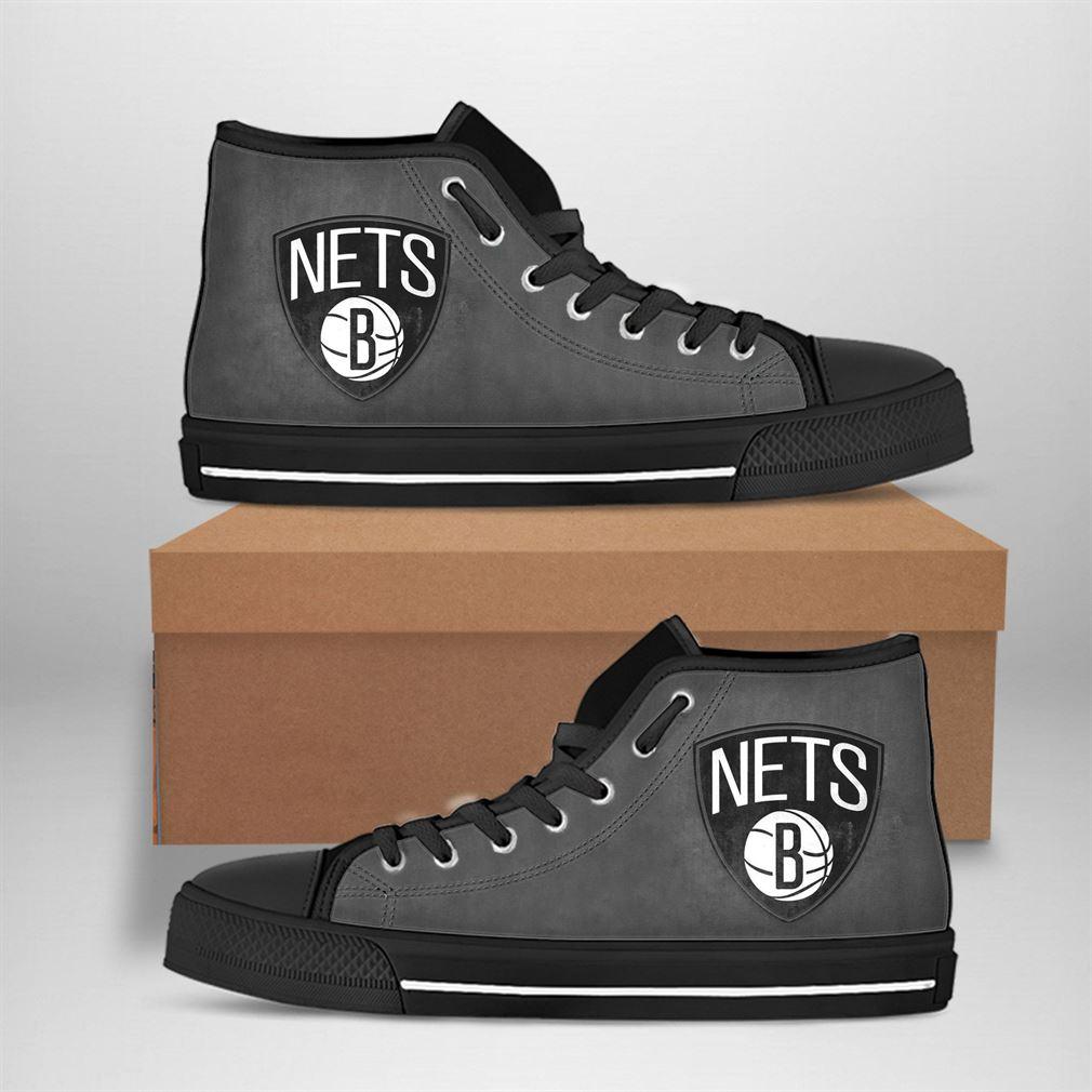 Brooklyn Nets Nba Basketball High Top Vans Shoes