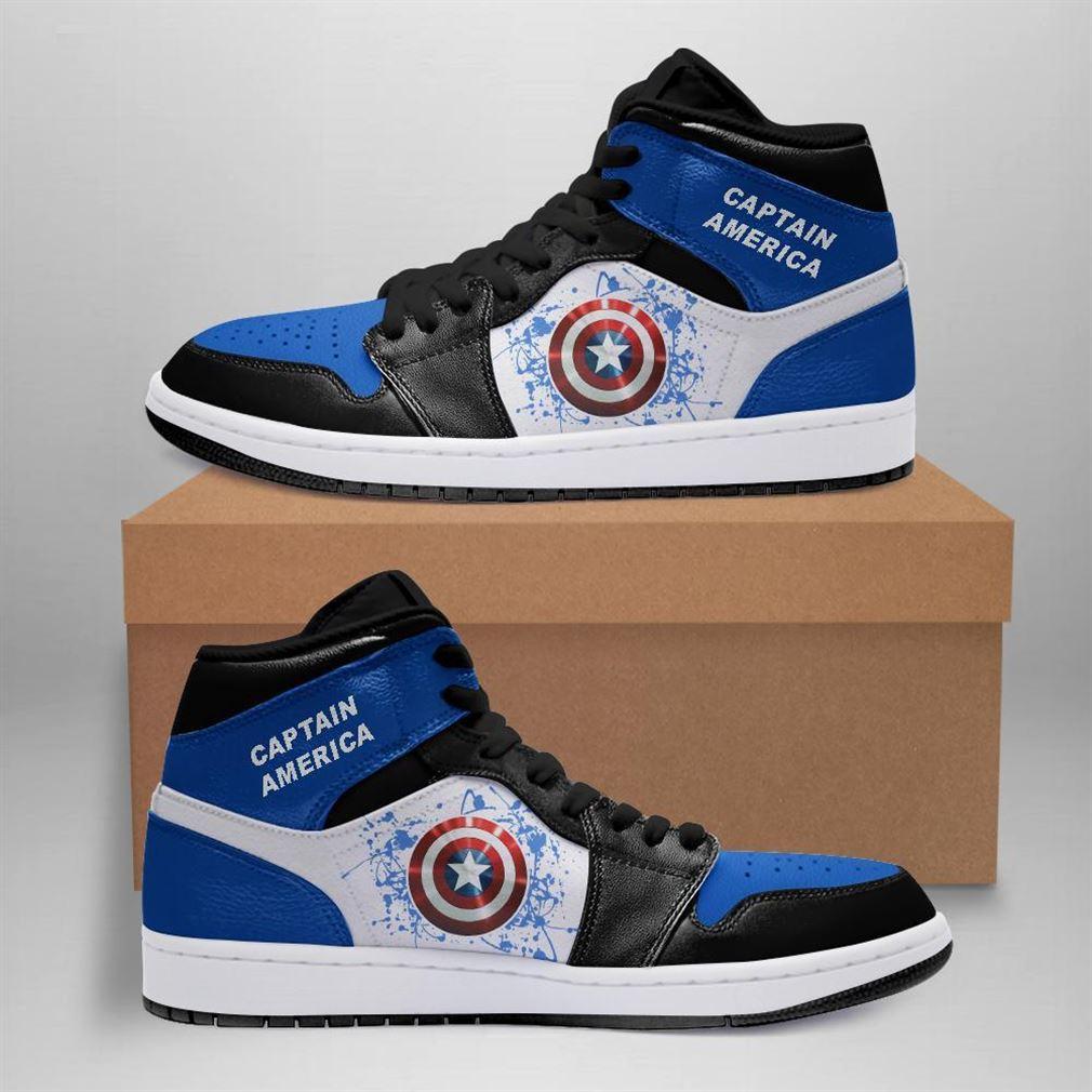 Captain America Marvel Air Jordan Sneaker Boots Shoes