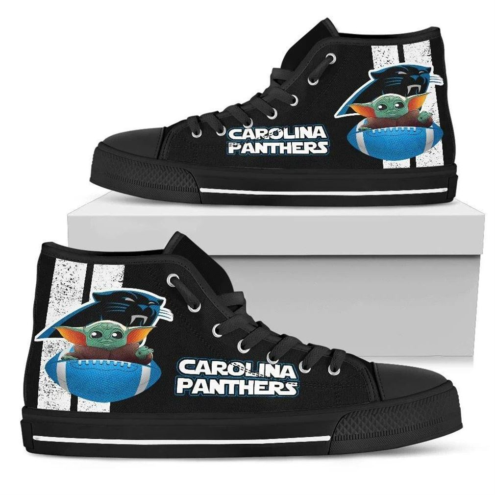 Carolina Panthers High Top Vans Shoes