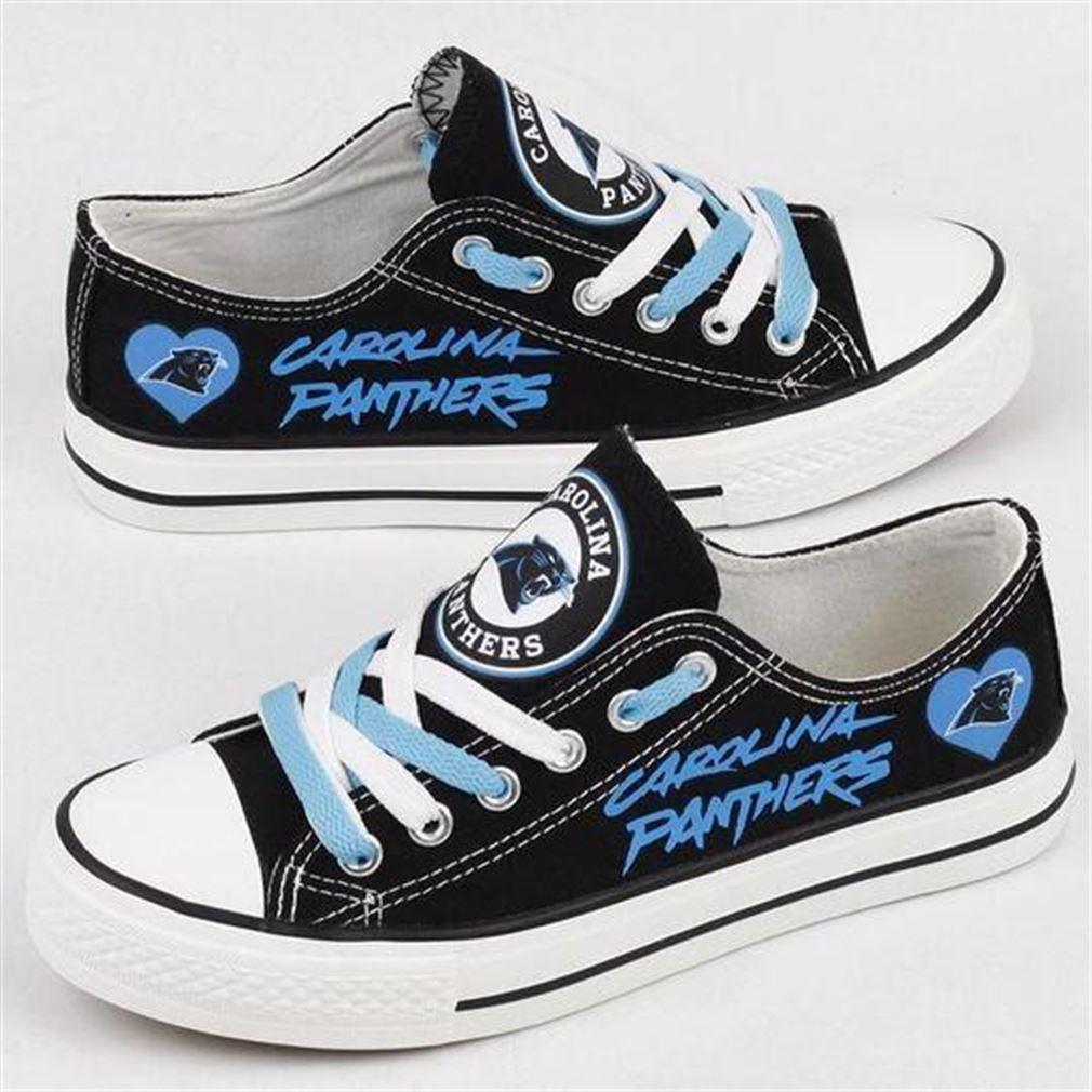 Carolina Panthers Nfl Football Low Top Vans Shoes
