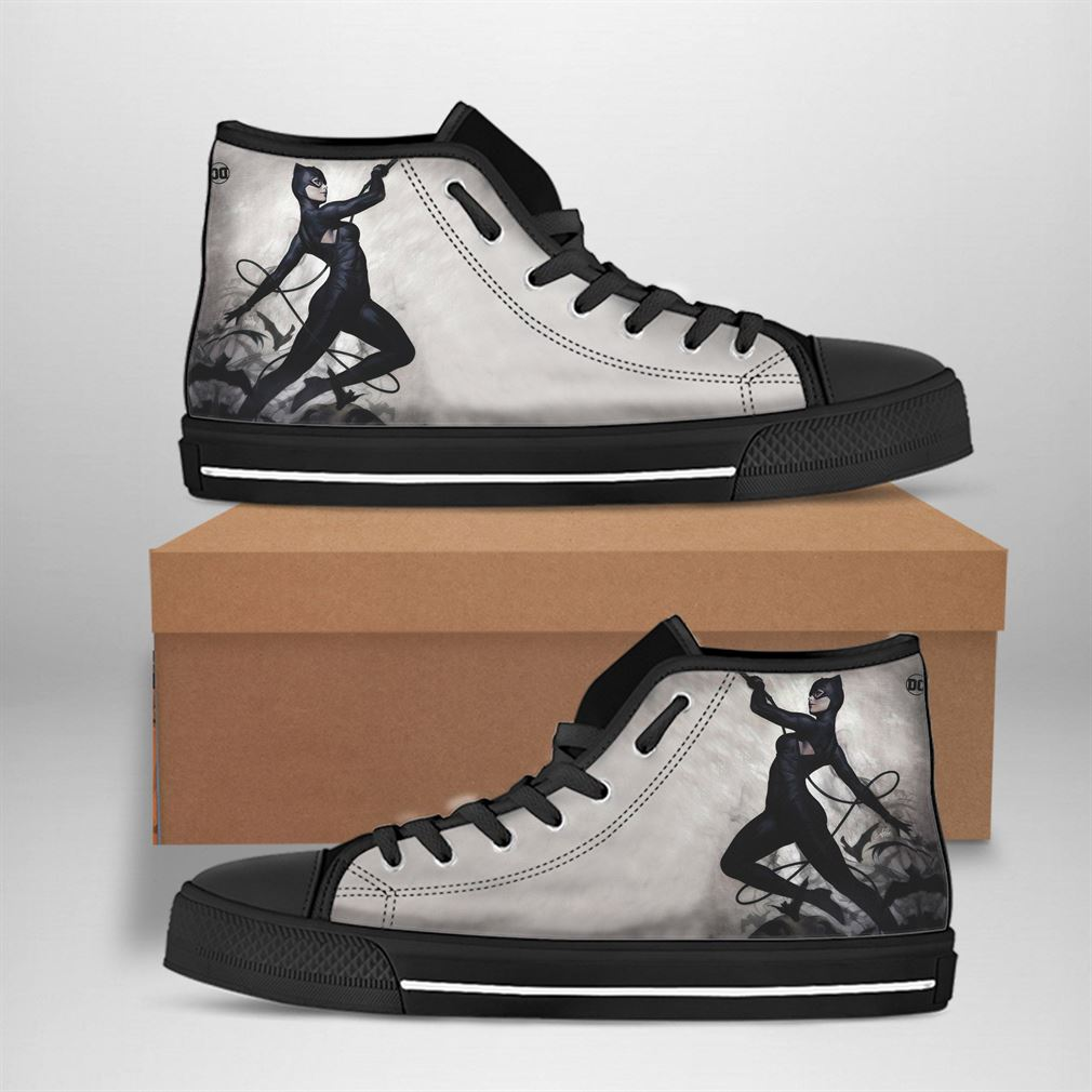 Catwoman Best Movie Character High Top Vans Shoes