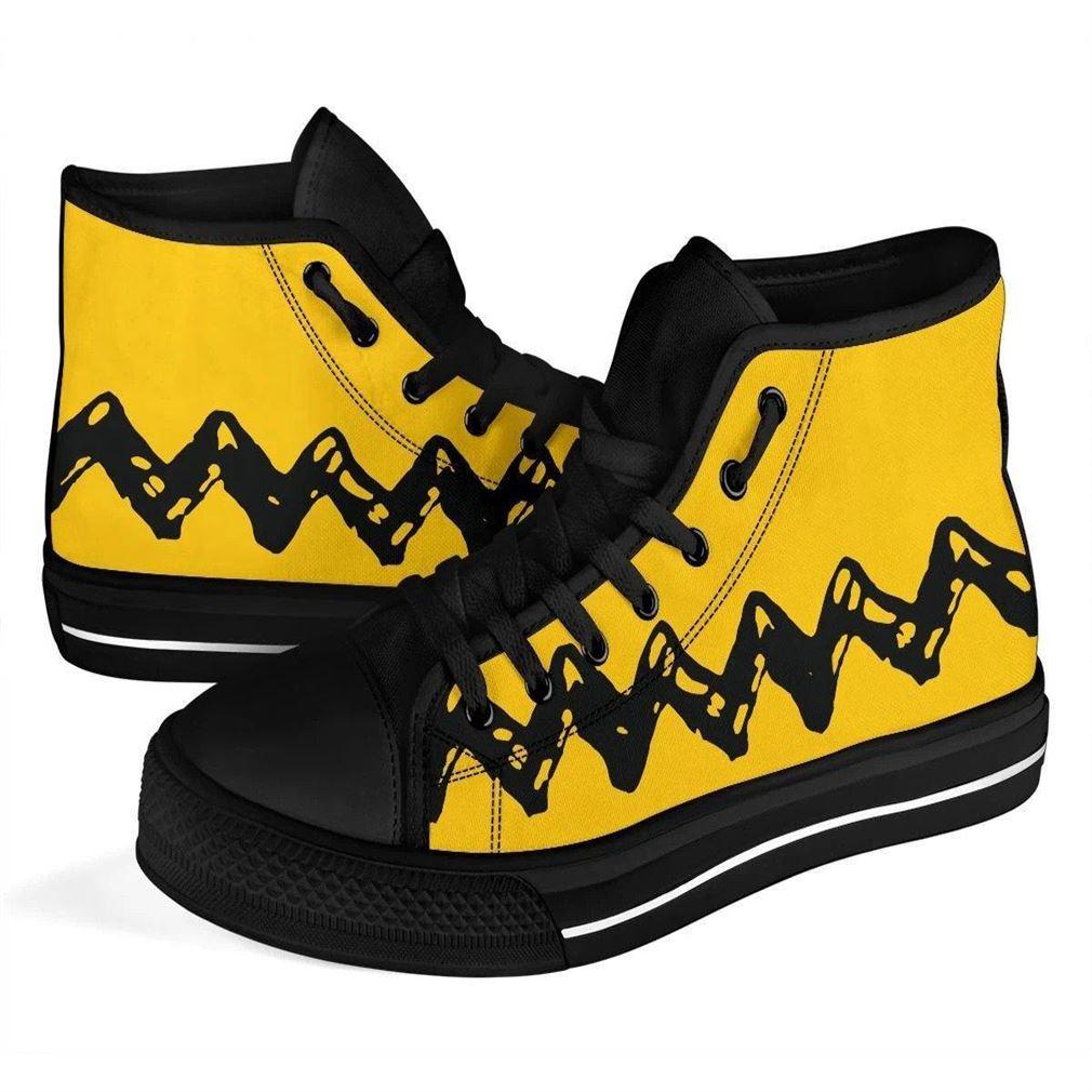 Charlie Brown High Top Vans Shoes