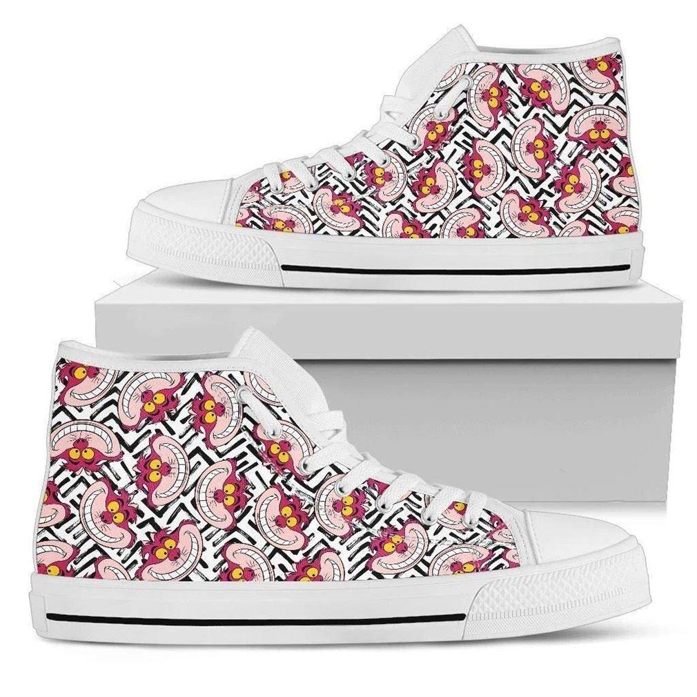 Cheshire Cat High Top Vans Shoes