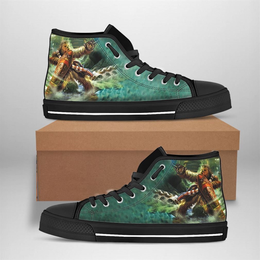 Chewbacca Best Movie Character High Top Vans Shoes