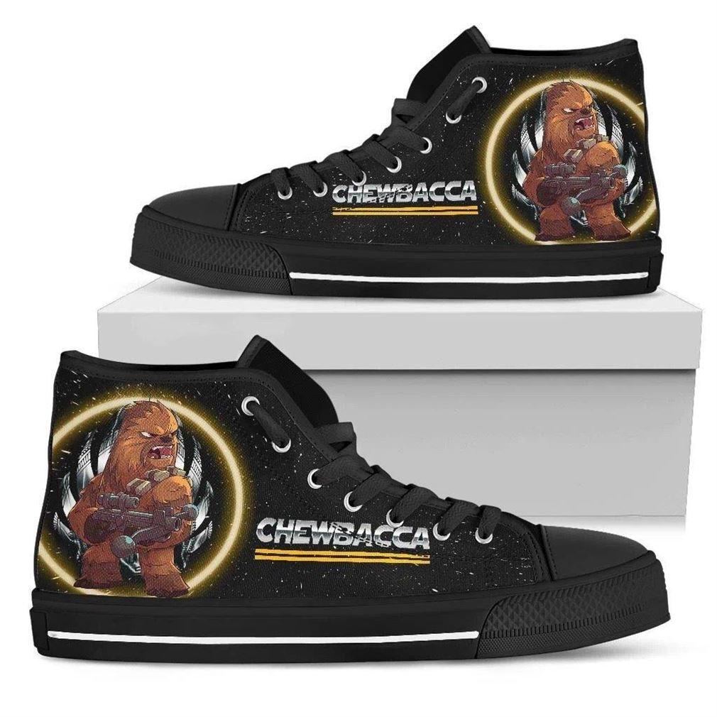 Chewbacca Character High Top Vans Shoes