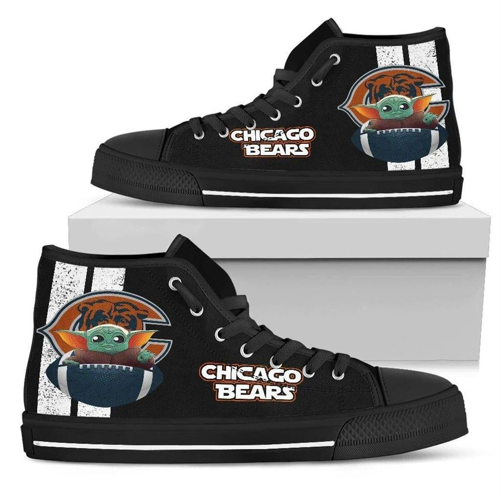 Chicago Bears High Top Vans Shoes