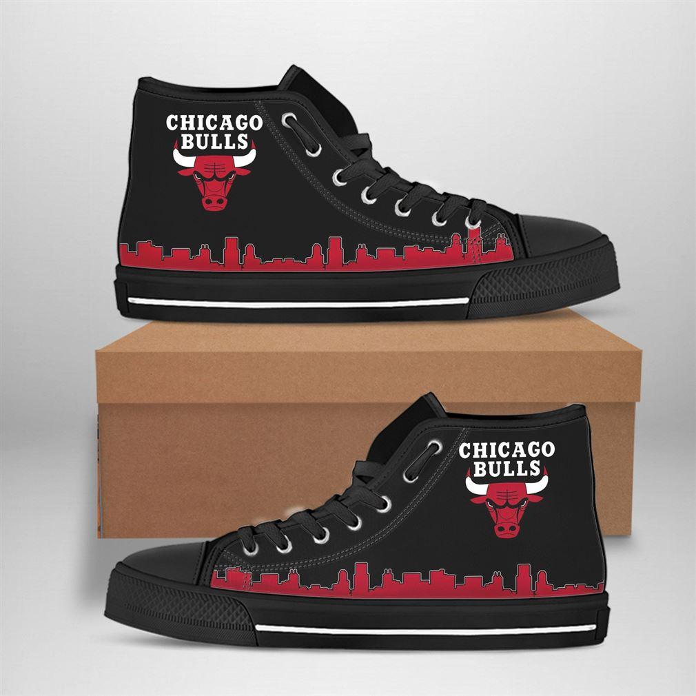 Chicago Bulls Nba Basketball High Top Vans Shoes