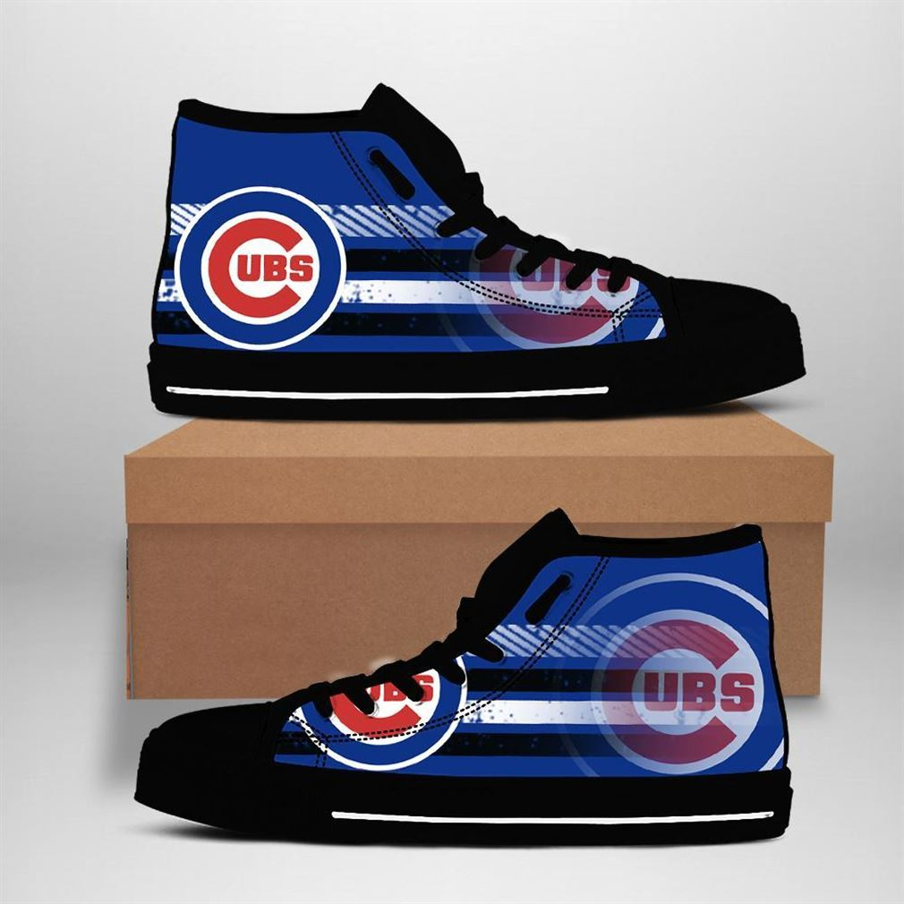 Chicago Cubs Mlb Baseball High Top Vans Shoes