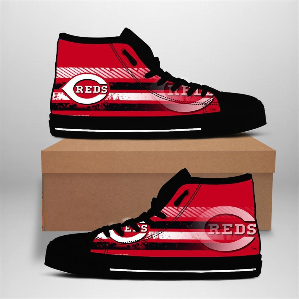 Cincinnati Reds Mlb Baseball High Top Vans Shoes