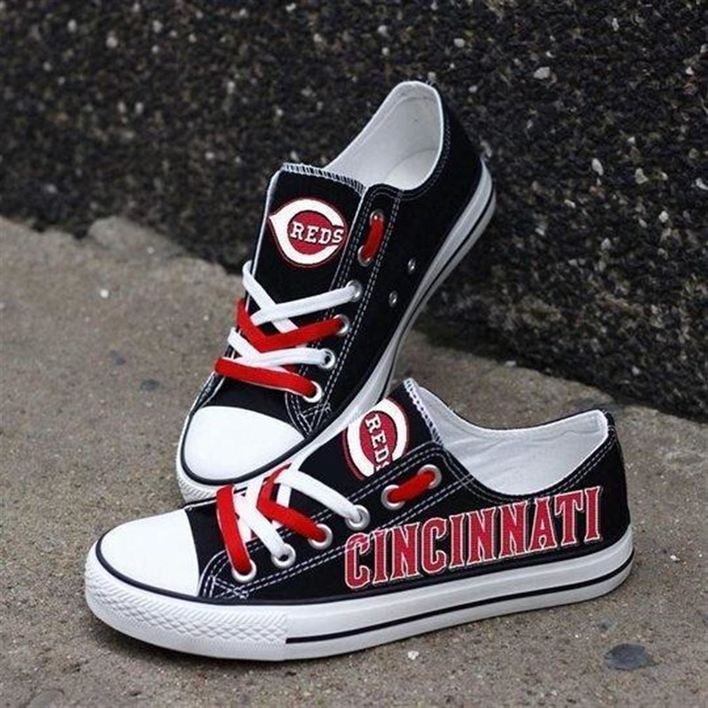 Cincinnati Reds Mlb Baseball Low Top Vans Shoes