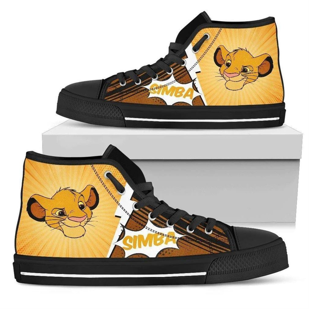 Cute Simba High Top Vans Shoes