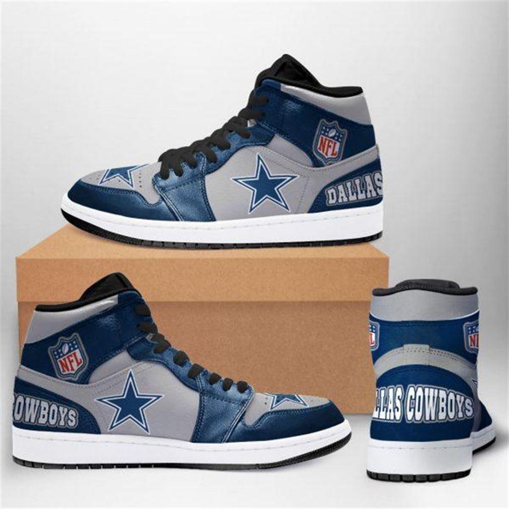 Dallas Cowboys Nfl Football Air Jordan Sneaker Boots Shoes