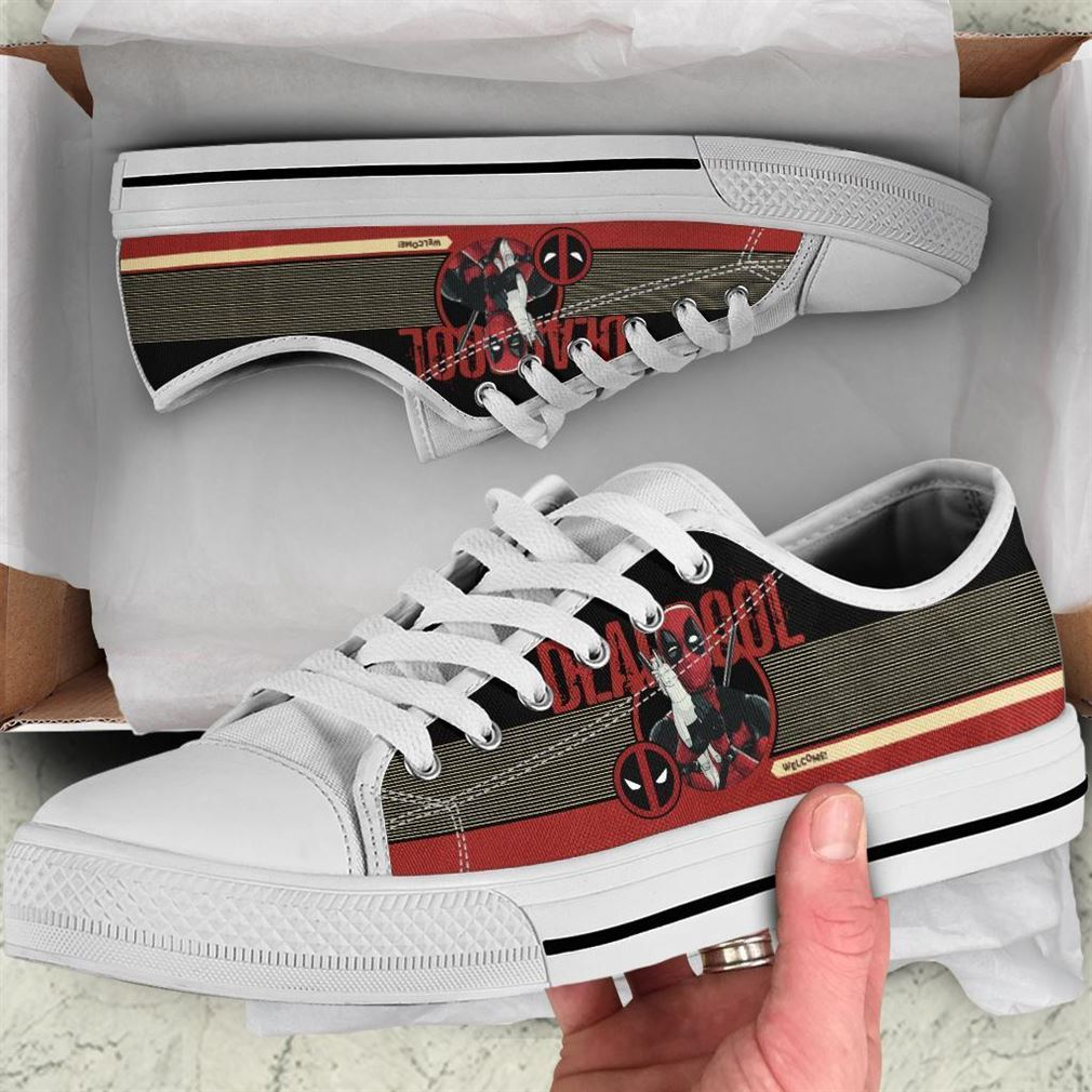 Deadpool Low Top Vans Shoes