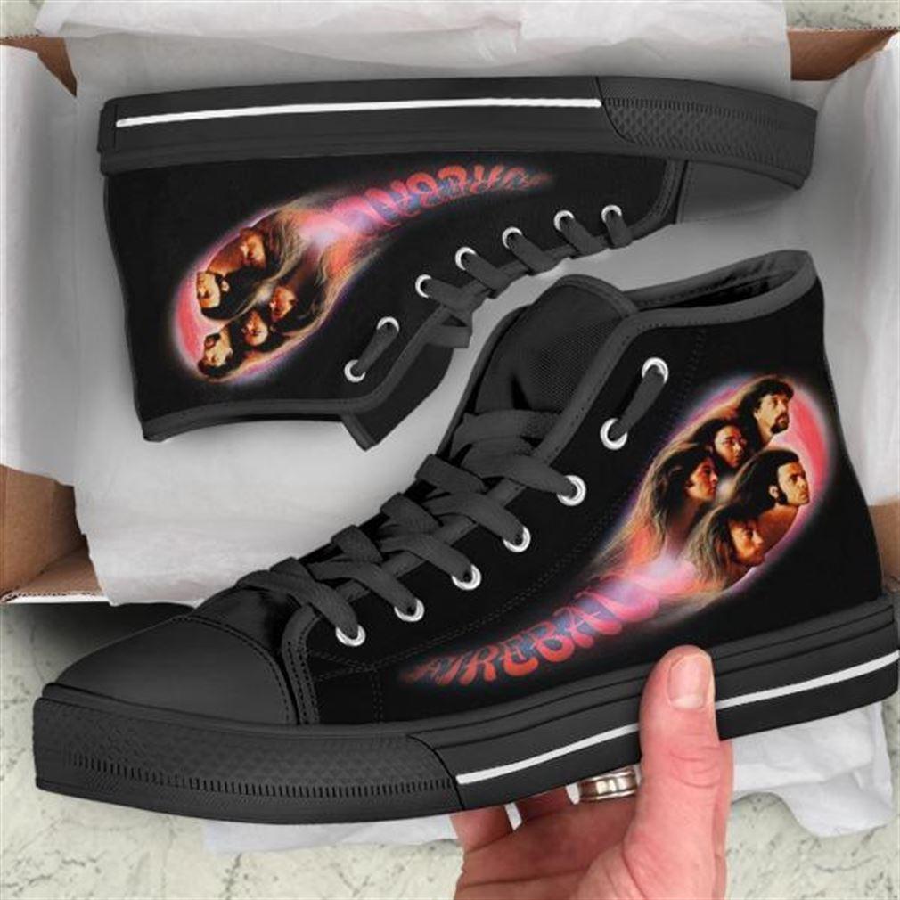 Deep Purple Fireball High Top Vans Shoes