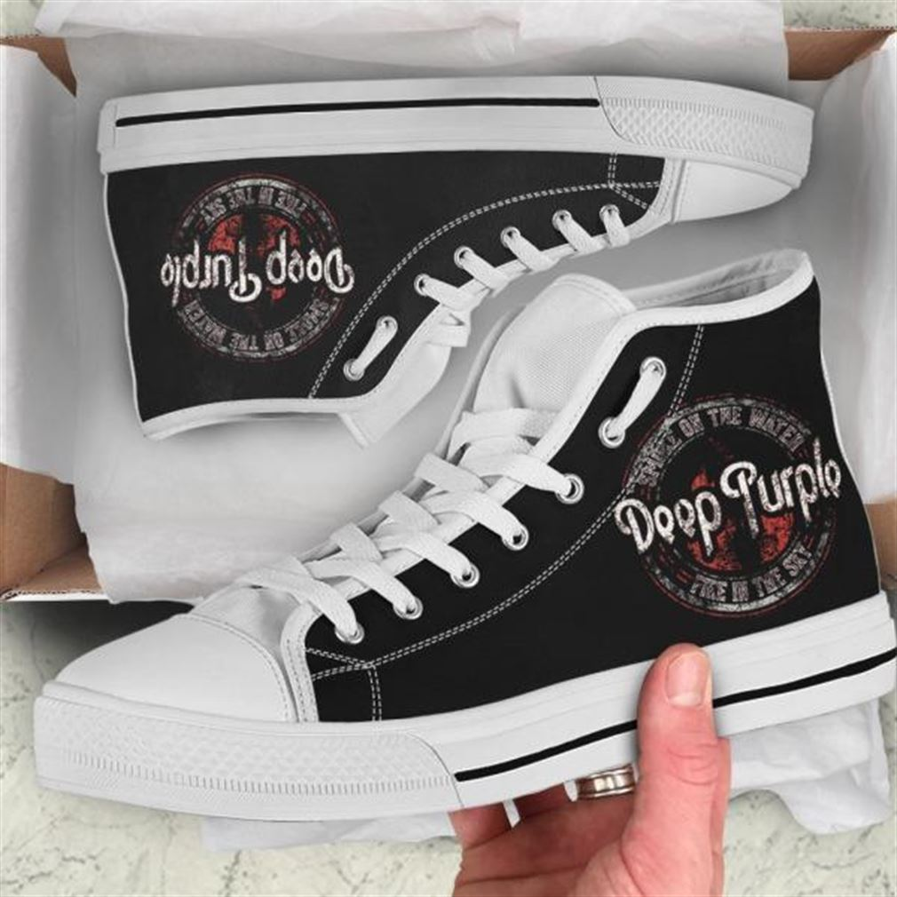 Deep Purple High Top Vans Shoes