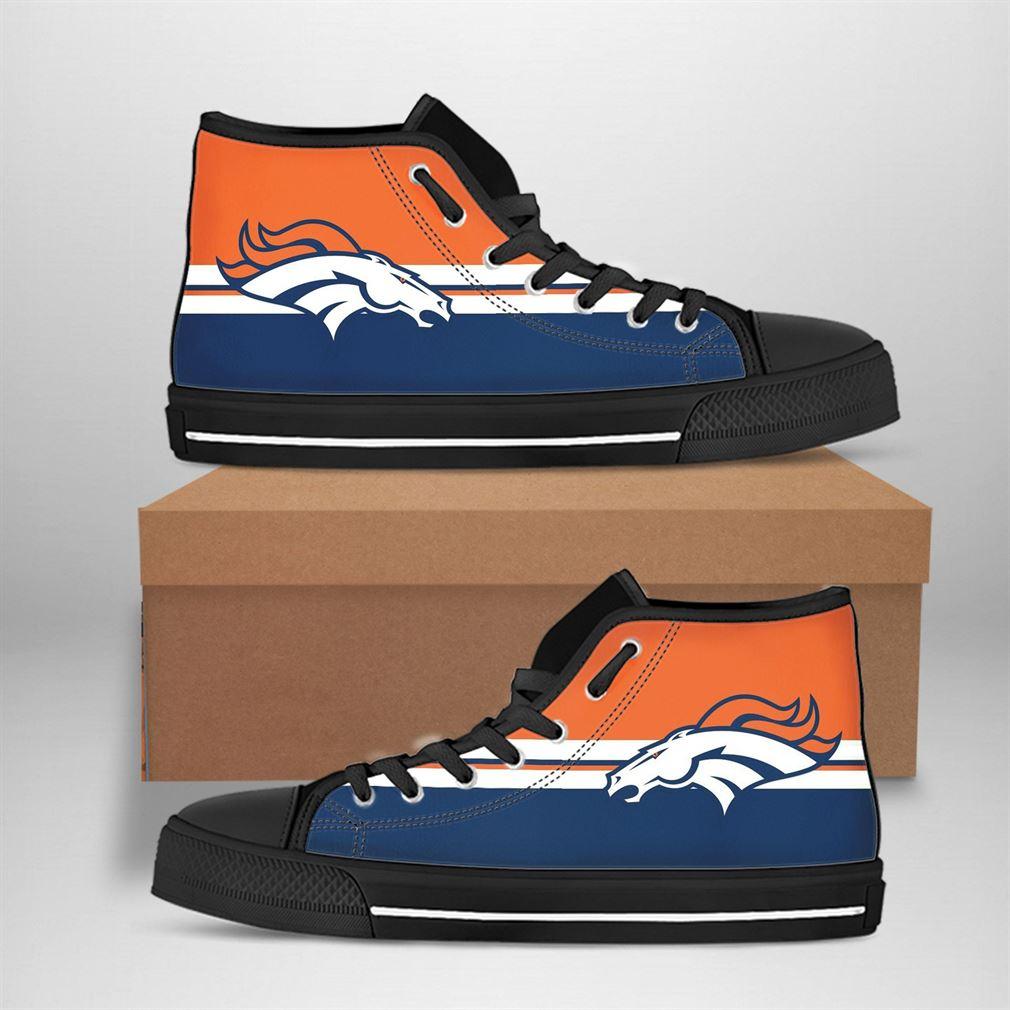 Denver Broncos Nfl Football High Top Vans Shoes