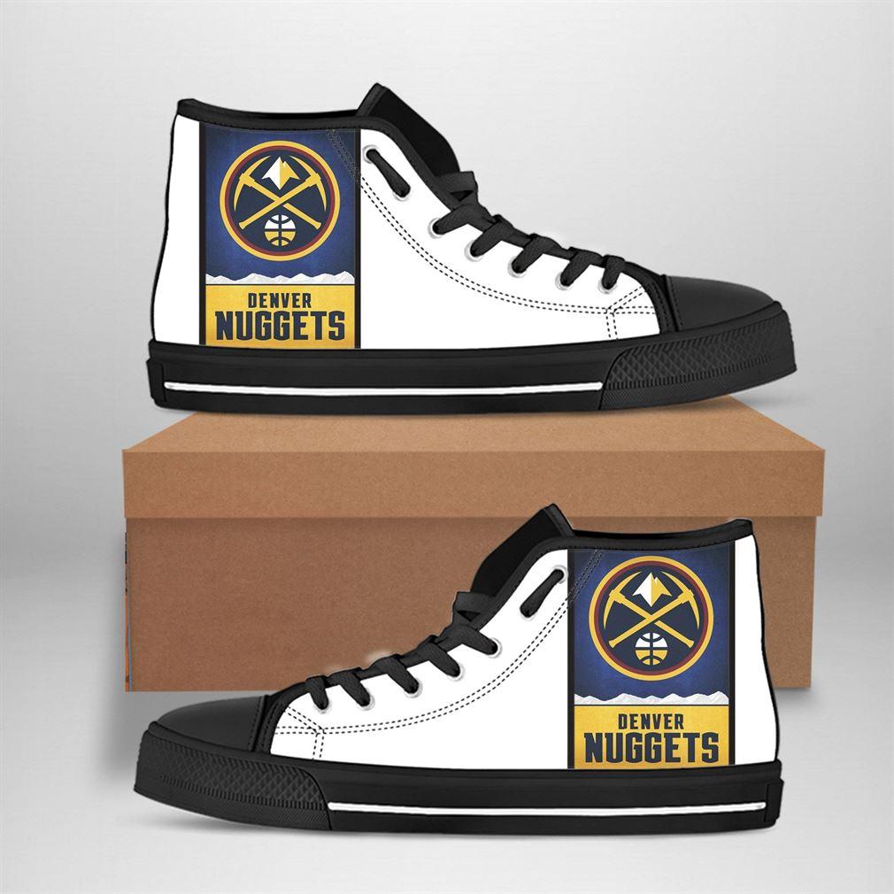 Denver Nuggets Nba Basketball High Top Vans Shoes