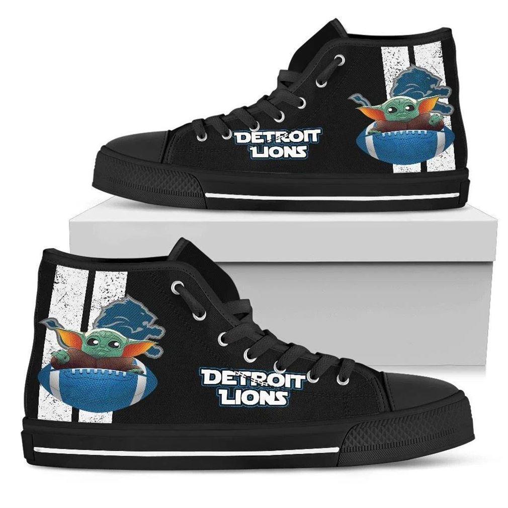 Detroit Lions High Top Vans Shoes
