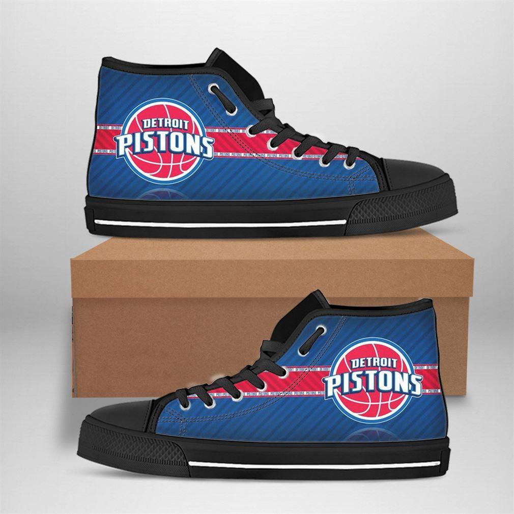 Detroit Pistons Nba Basketball High Top Vans Shoes
