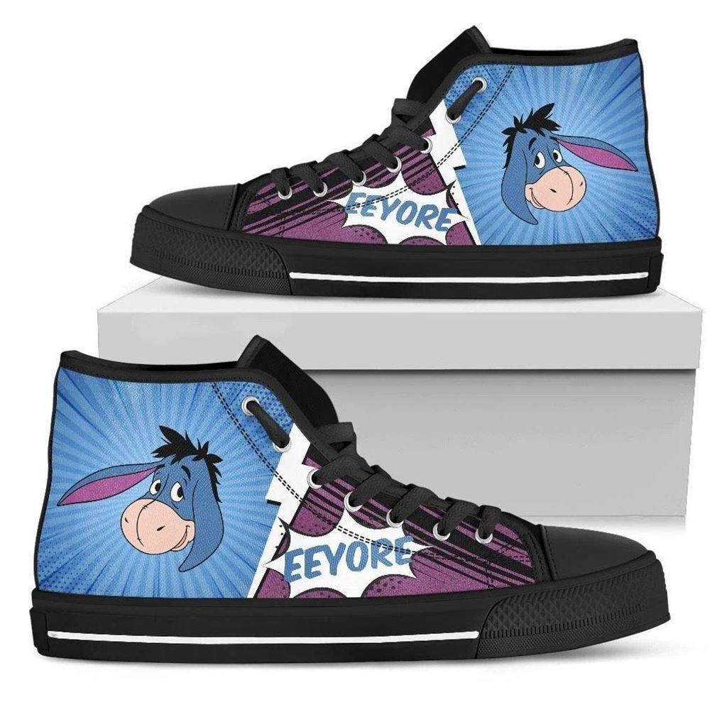Eeyore High Top Vans Shoes