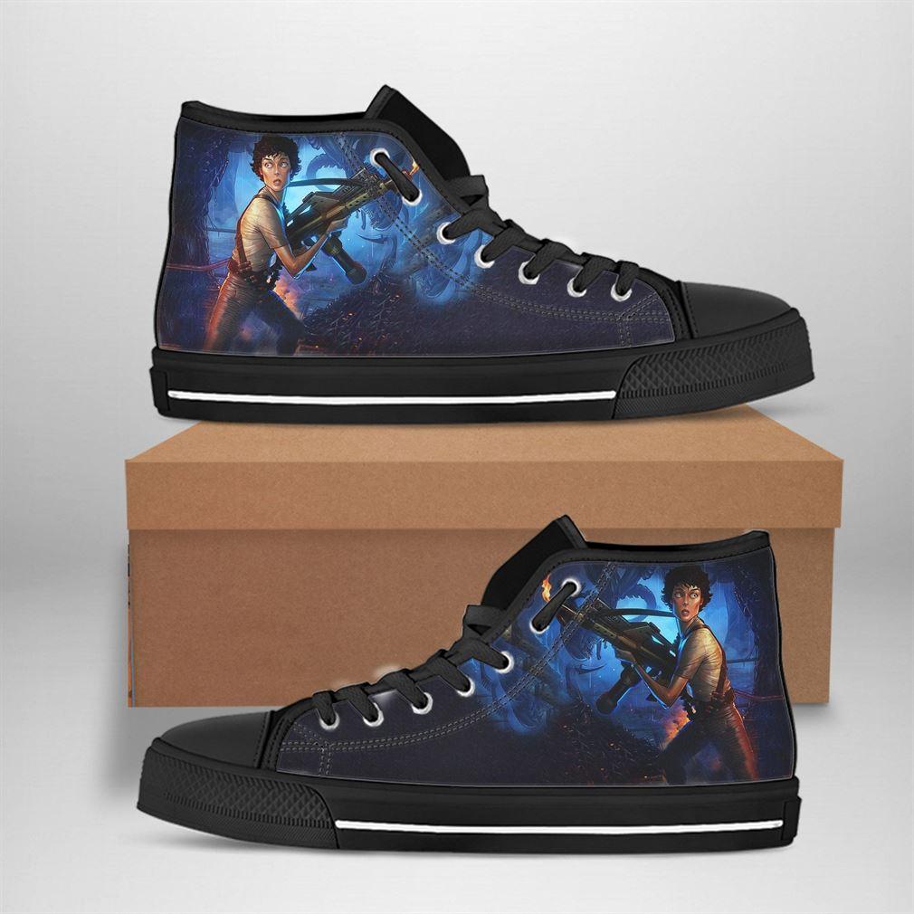 Ellen Ripley Best Movie Character High Top Vans Shoes