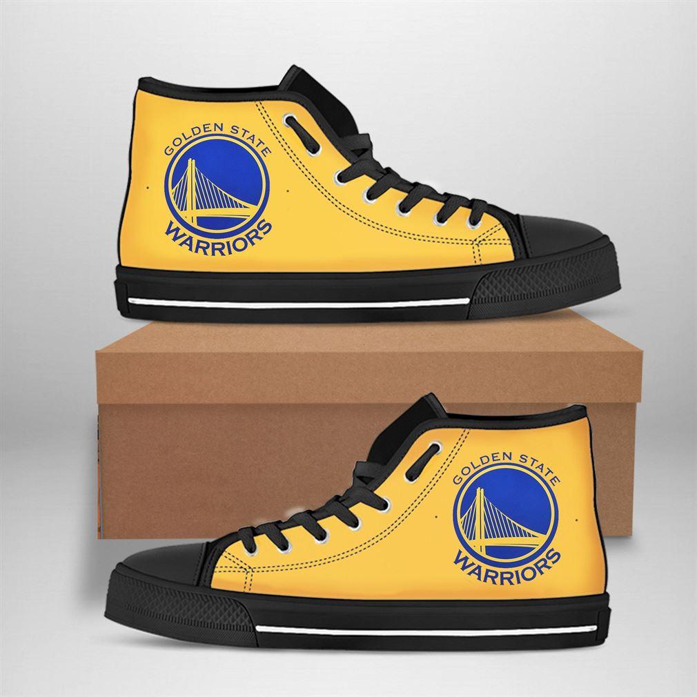 Golden State Warriors Nba Basketball High Top Vans Shoes