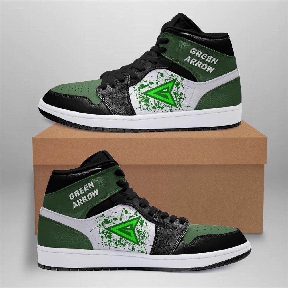 Green Arrow Dc Comics Air Jordan Sneaker Boots Shoes