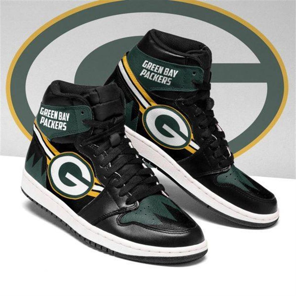 Green Bay Packers Nfl Football Air Jordan Sneaker Boots Shoes