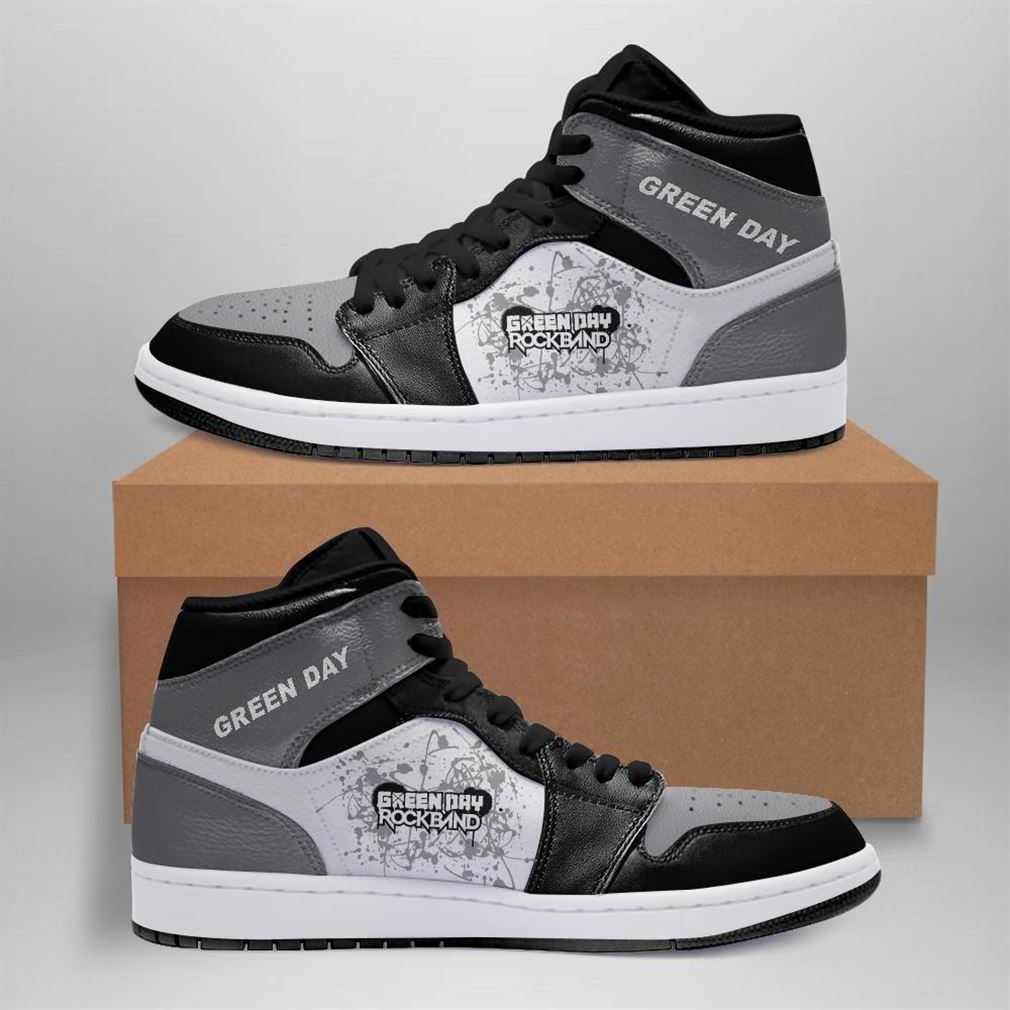 Green Day Rock Band Air Jordan Sneaker Boots Shoes