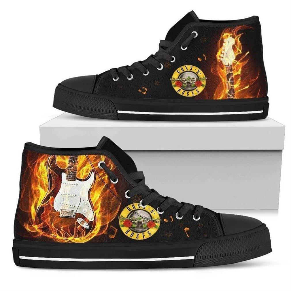 Guns N Roses High Top Vans Shoes