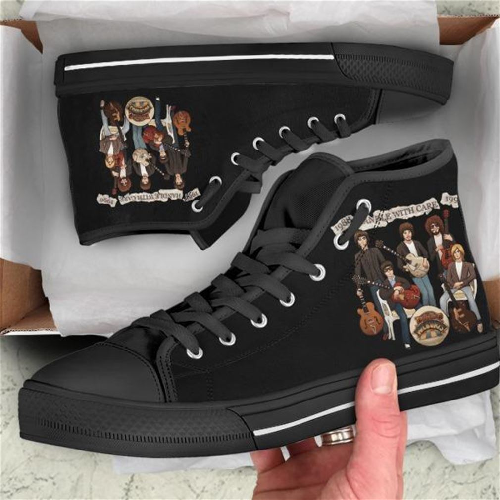 Handle With Care High Top Vans Shoes