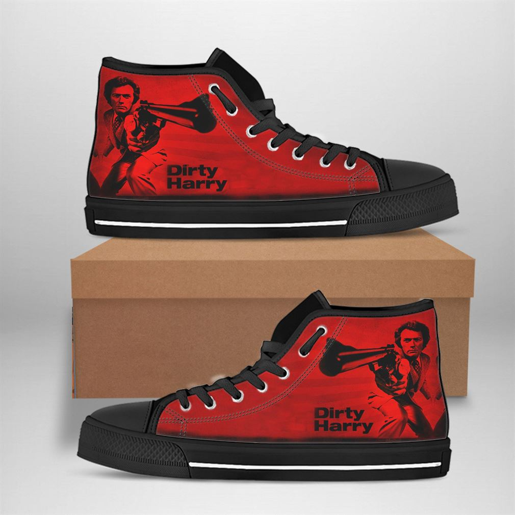 Harry Callahan Best Movie Character High Top Vans Shoes