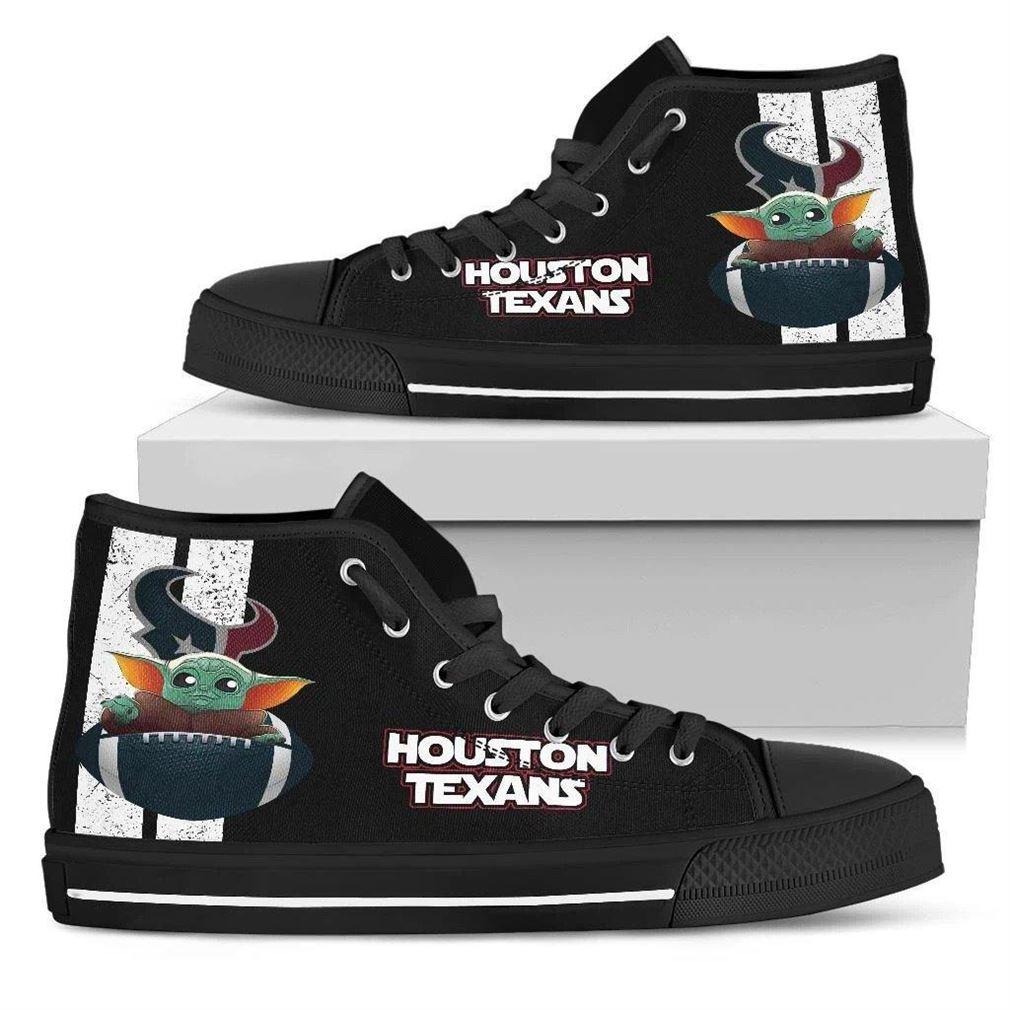 Houston Texans High Top Vans Shoes