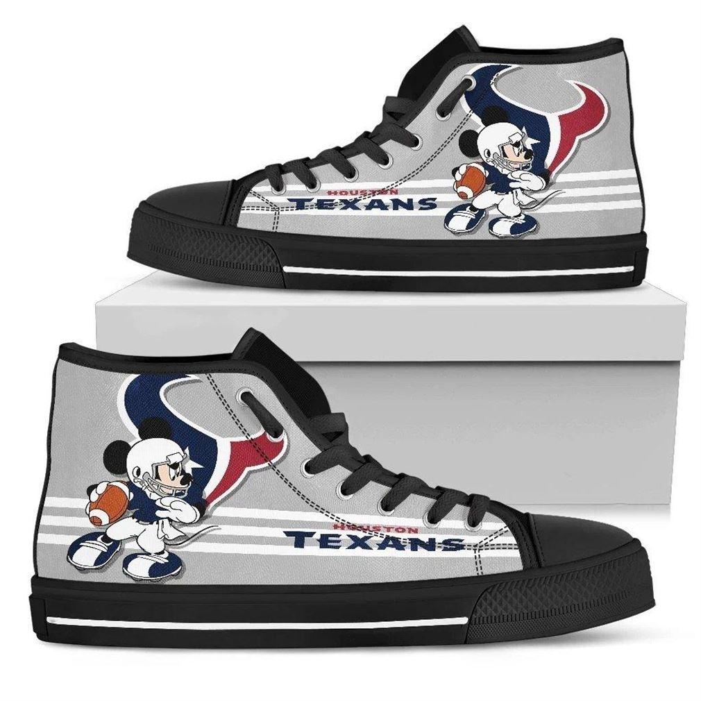 Houston Texans Nfl Football High Top Vans Shoes